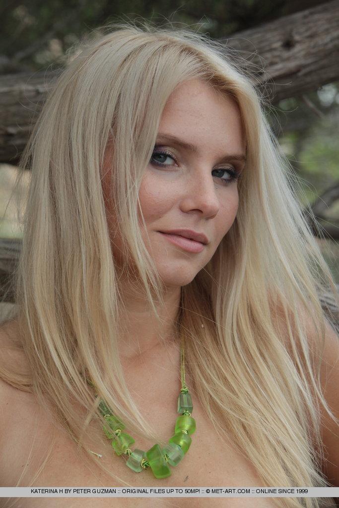 Katerina is a sweet blonde teenie from MET Art