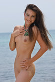 Smoking Hot Lorena B Playfully Lounges By The Beach - Picture 17