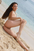 Smoking Hot Lorena B Playfully Lounges By The Beach - Picture 10